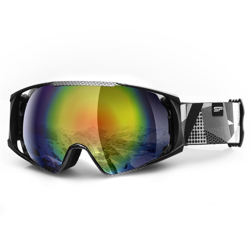SPOKEY - Spokey DENNY lyžařské brýle šedo-bílé