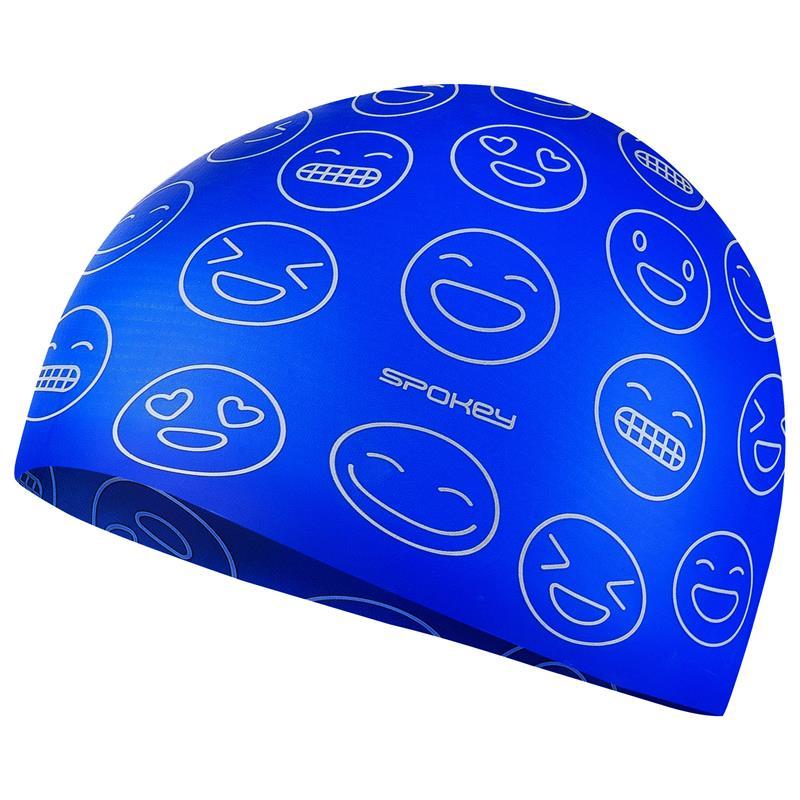 SPOKEY - EMOJI Juniorská plavecká čepice, modrá