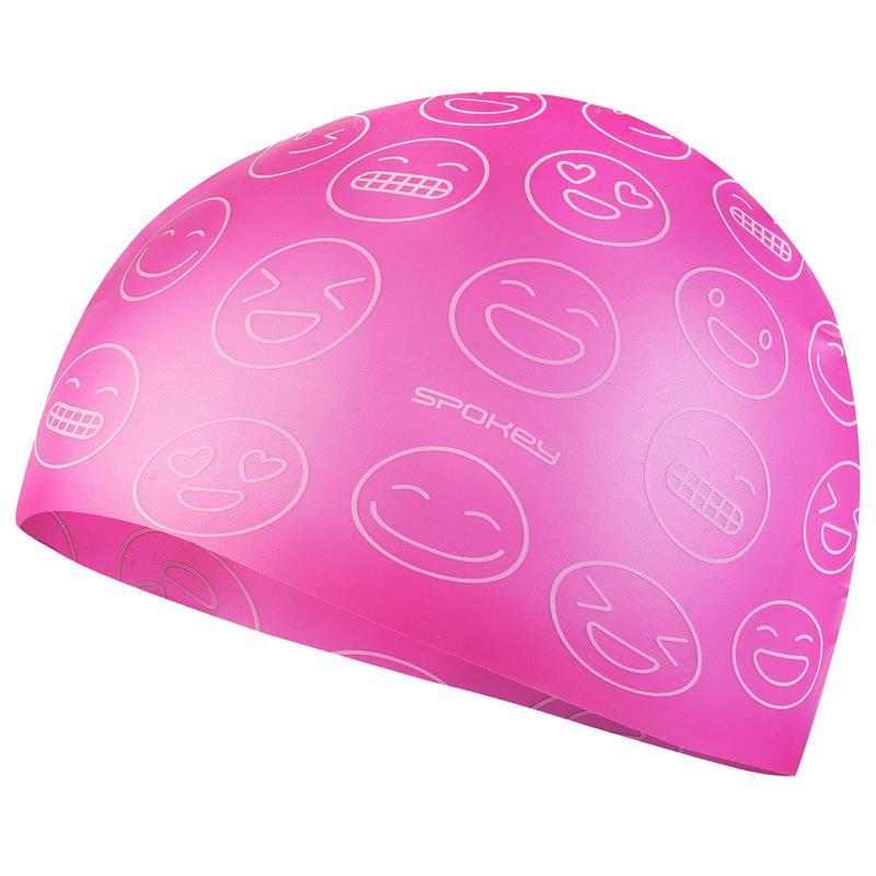 SPOKEY - EMOJI Juniorská plavecká čepice, růžová