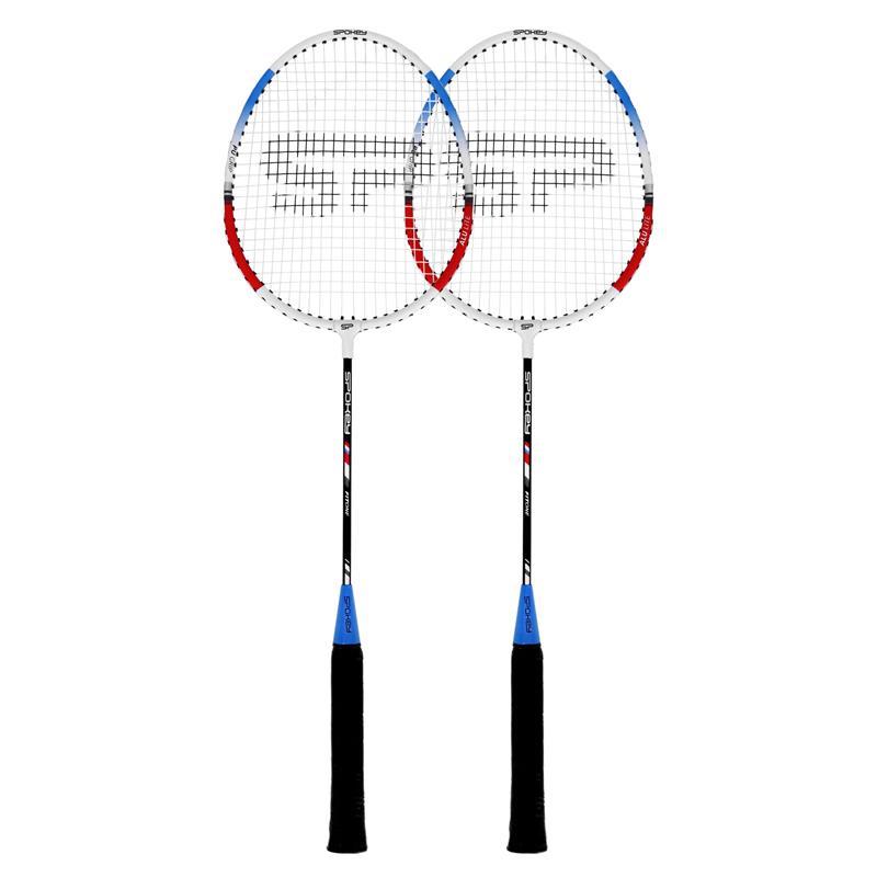 SPOKEY - FIT ONE II Sada na badminton - 2 rakety, modrá