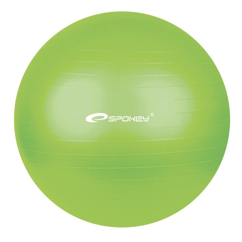 SPOKEY - Fitball - Fitness míč zelená 55 cm včetně pumpičky NOVÝ DESIGN