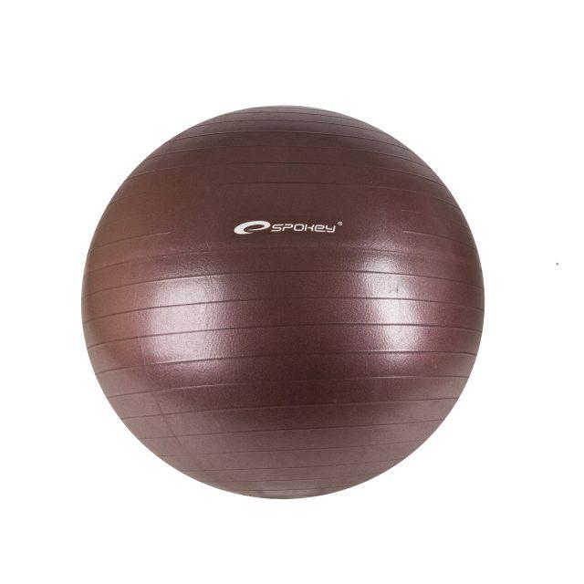 SPOKEY - FITBALL II - Gymnastický míč 65 cm včetně pumpičky, bordó