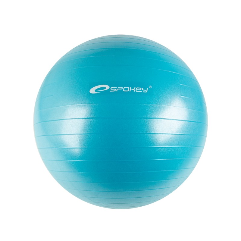 SPOKEY - FITBALL II - Gymnastický míč 65 cm včetně pumpičky, tyrkys