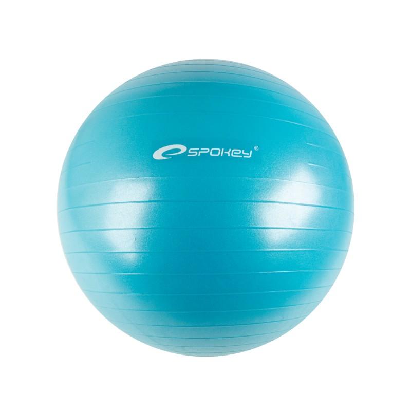SPOKEY - FITBALL II - Gymnastický míč 55 cm včetně pumpičky, tyrkys