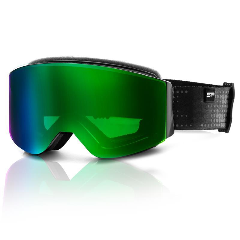 SPOKEY - Spokey GRANBY lyžařské brýle černo-zelené