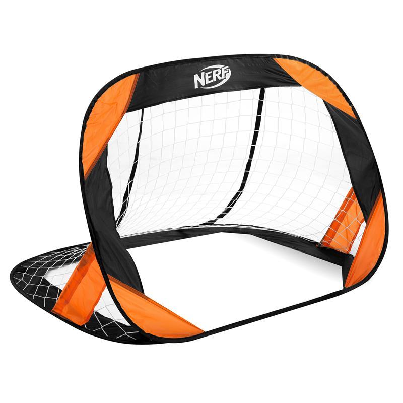 SPOKEY - HASBRO BUCKLER Samorozkládací fotbalová branka 2 ks, značka NERF černo-oranžová
