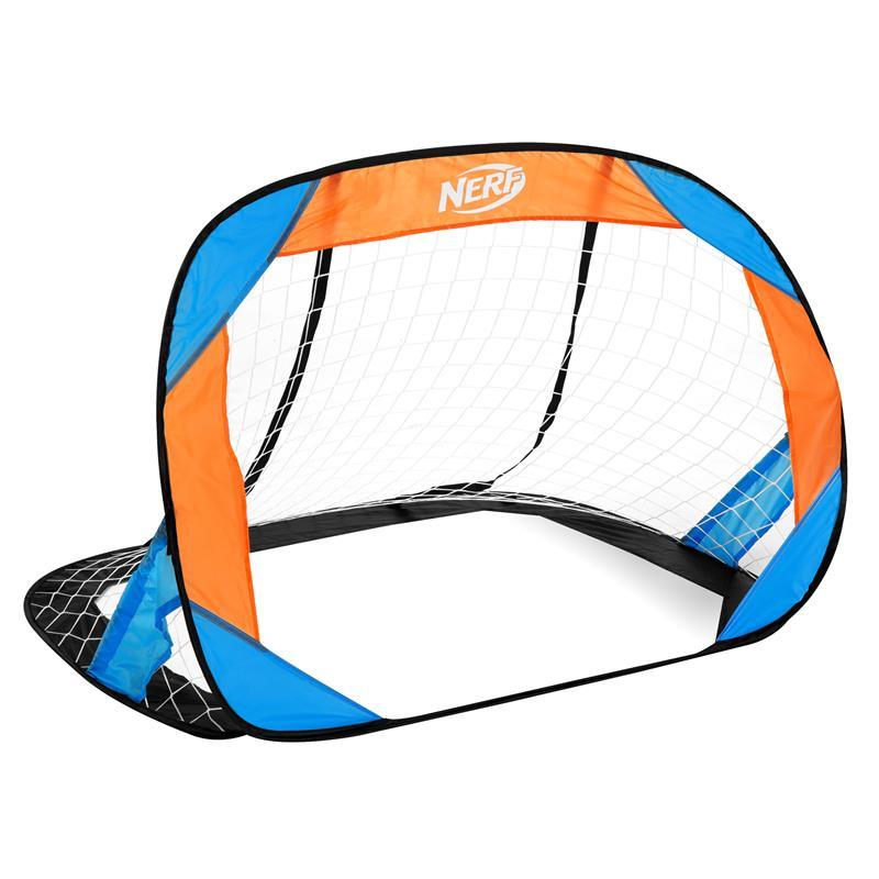 SPOKEY - HASBRO BUCKLER Samorozkládací fotbalová branka 2 ks, značka NERF modro-oranžová