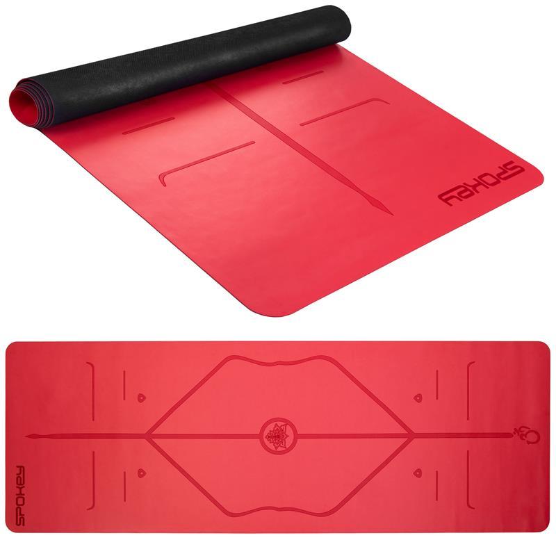 SPOKEY - JUDY Gumová podložka na cvičení, červená 0,1 cm