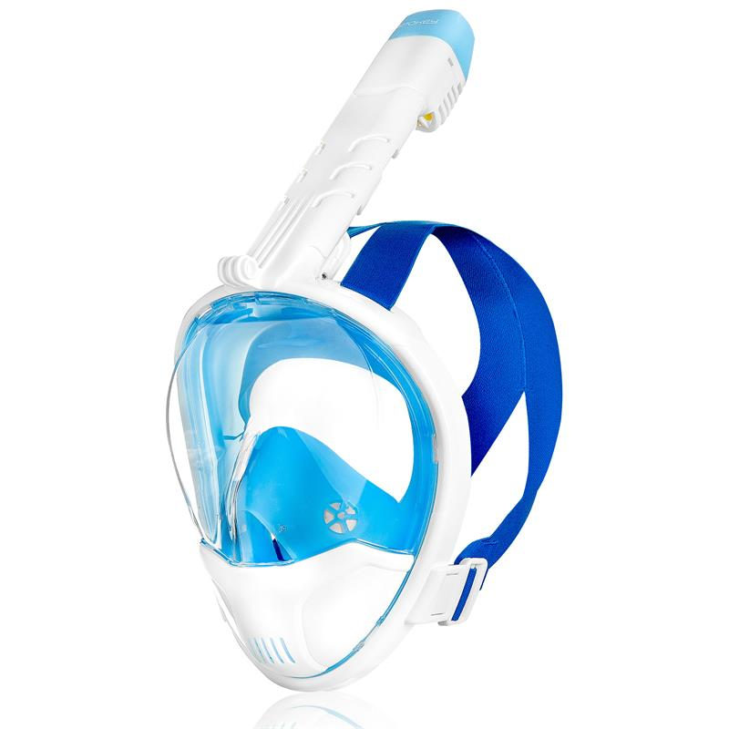 SPOKEY - KARWI BL/WT Celoobličejová maska - bílá L/XL