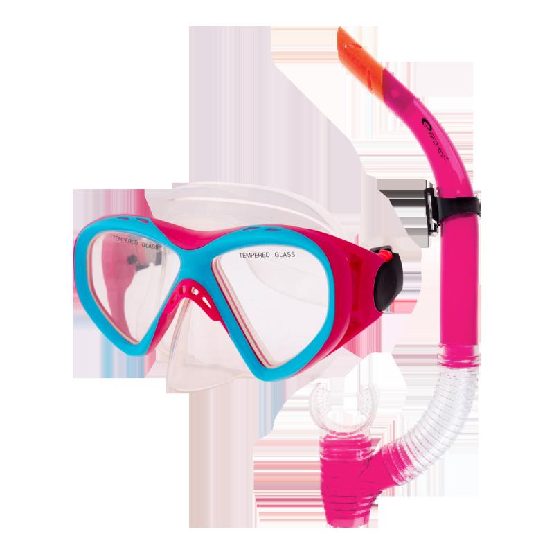 SPOKEY - KRAKEN II Sada brýle + šnorchl růžová