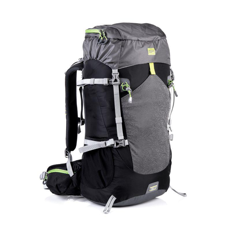 SPOKEY - LUKLA Batoh trekkingový 50l, černá-šedá-zelená