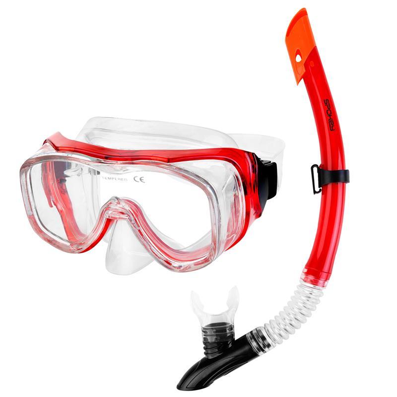 SPOKEY - LUZON Panoramatická sada pro potápění maska+šnorchl
