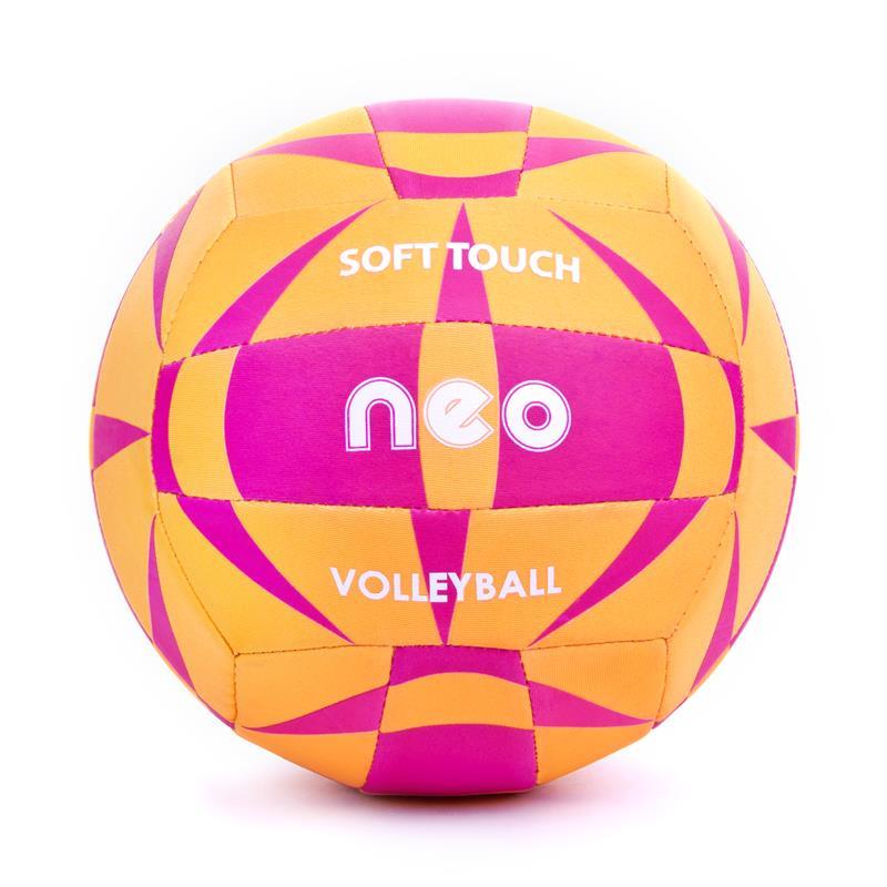 SPOKEY - NEO SOFT neoprenový volejbalový míč oranžovo-růžový roz. 5