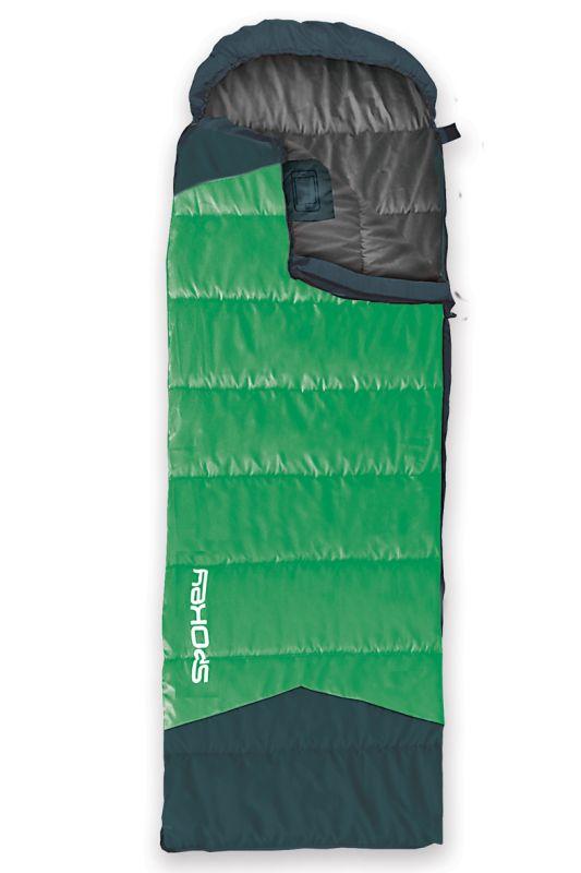 SPOKEY - OUTLAST II Spací pytel mumie/deka zelený levé zapinání