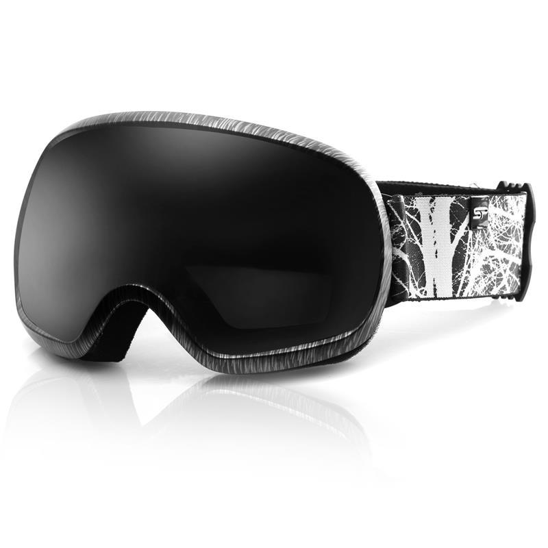 SPOKEY - Spokey PARK lyžařské brýle černo-bílé