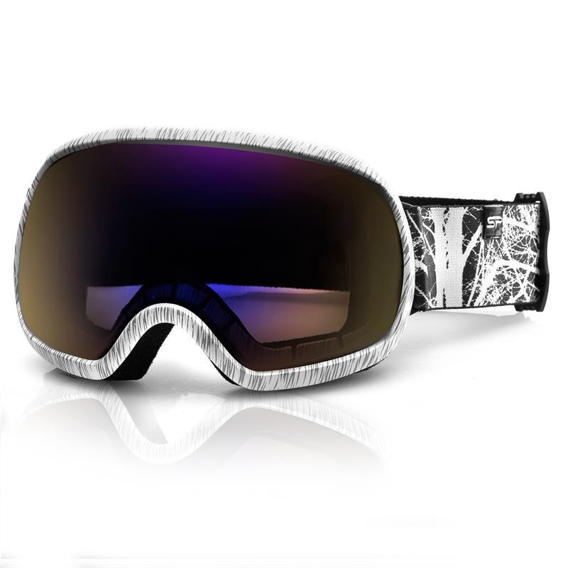 SPOKEY - Spokey PARK lyžařské brýle šedo-bílé