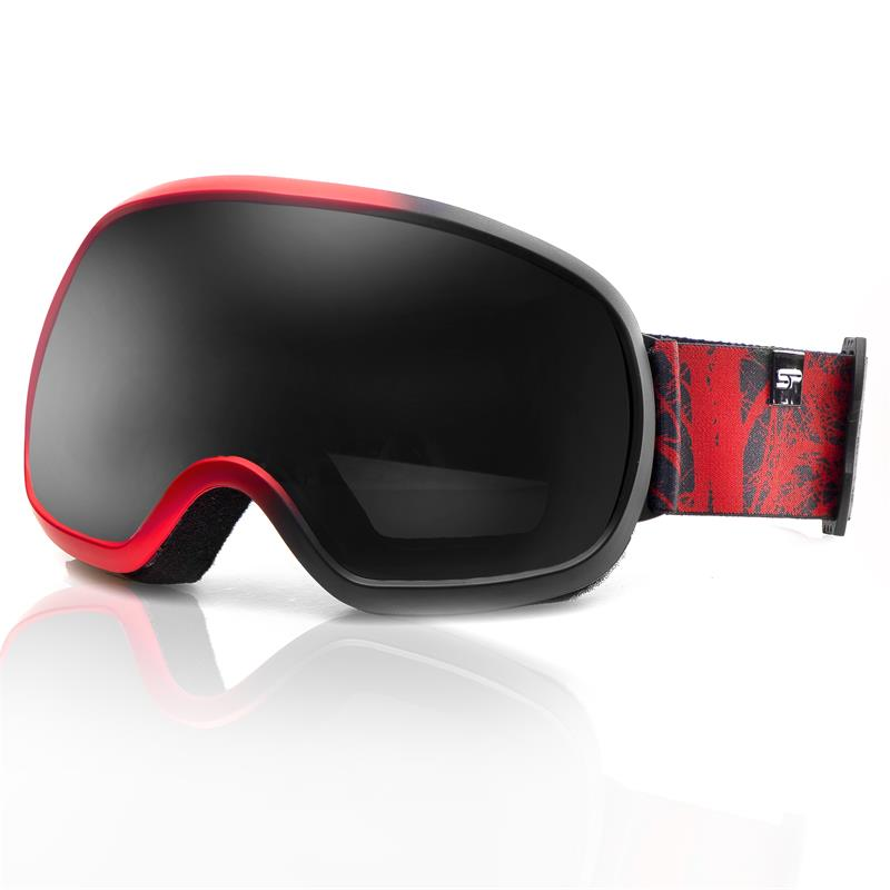 SPOKEY - Spokey PARK lyžařské brýle černo-červené