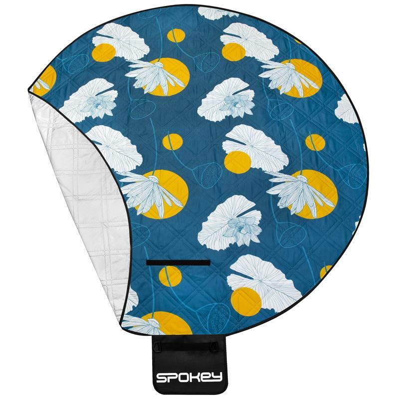 SPOKEY - PICNIC HOOP Pikniková deka kulatá, vzor květiny, průměr 180 cm