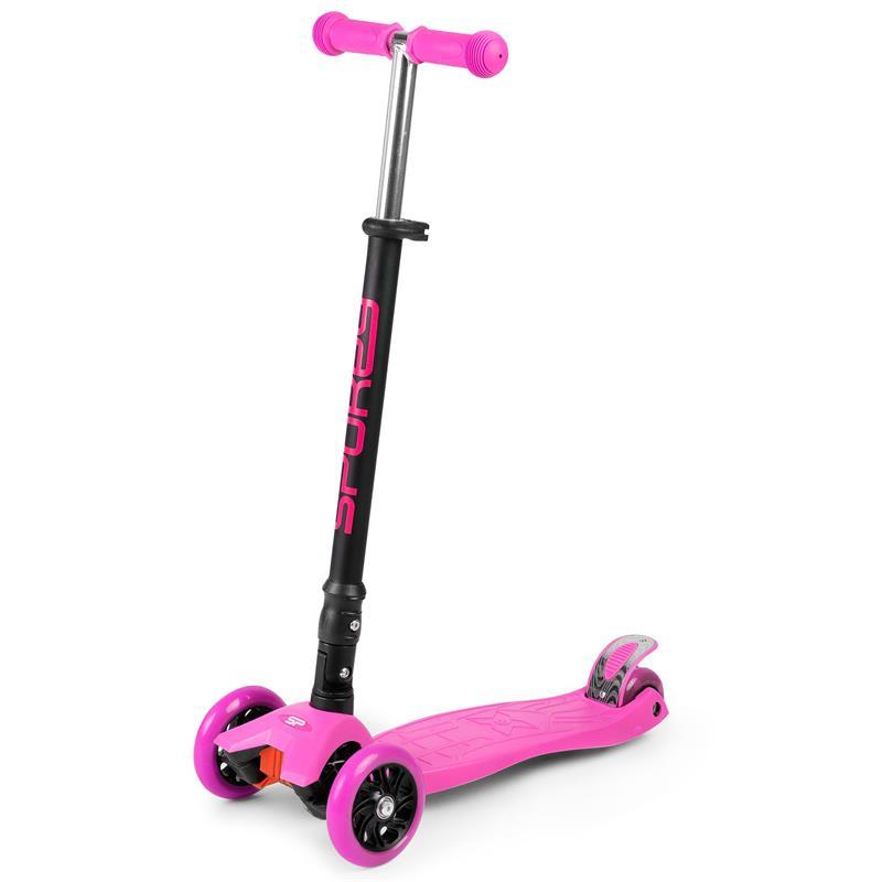 SPOKEY - PLIER Skládací tříkolka dětská se svítícími kolečky, růžová