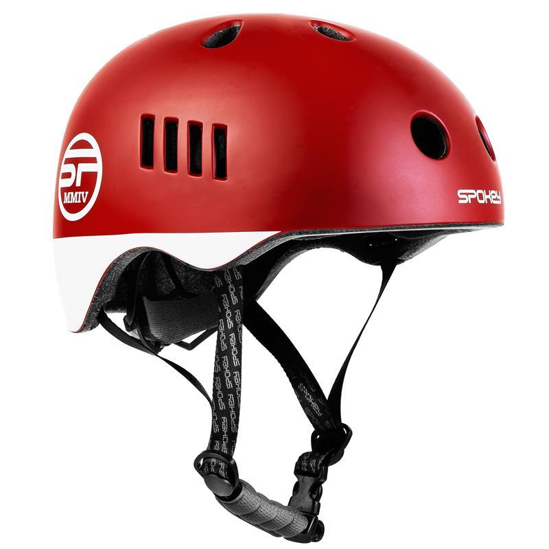 SPOKEY - PUMPTRACK Juniorská cyklistická BMX přilba IN-MOLD, 58-61 cm, červená