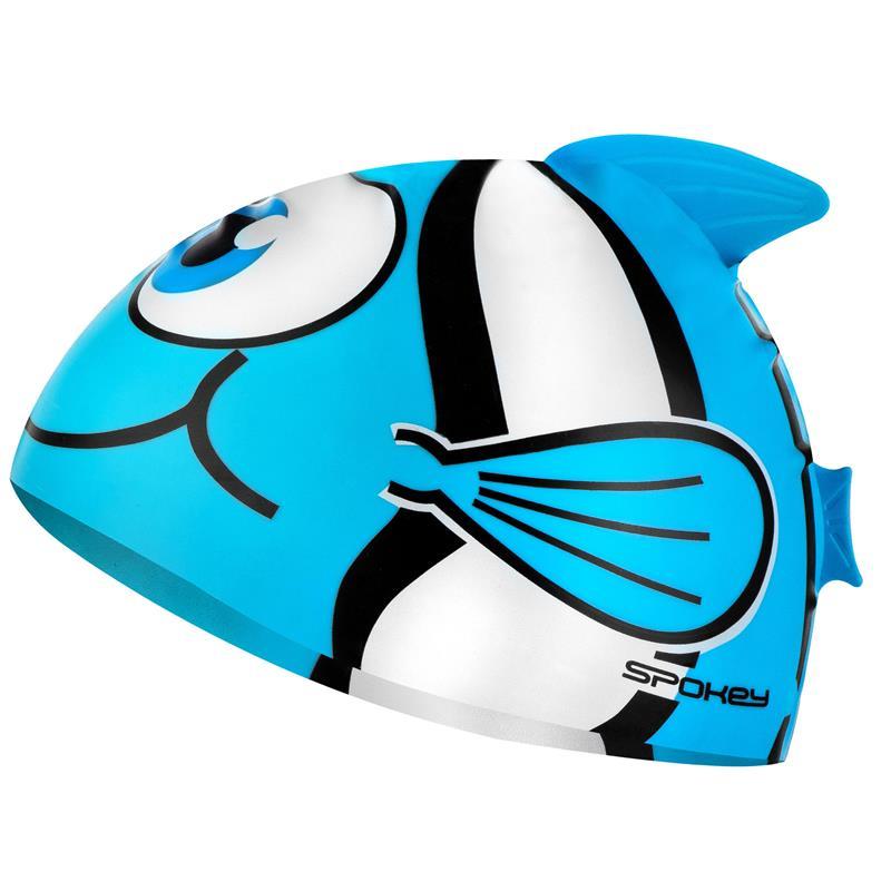 SPOKEY - RYBKA Dětská plavecká čepice, tyrkysová