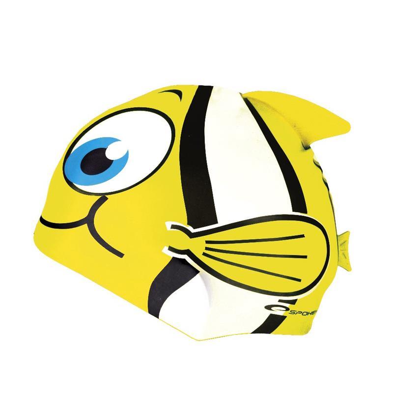 SPOKEY - RYBKA--Dětská plavecká čepice žlutá