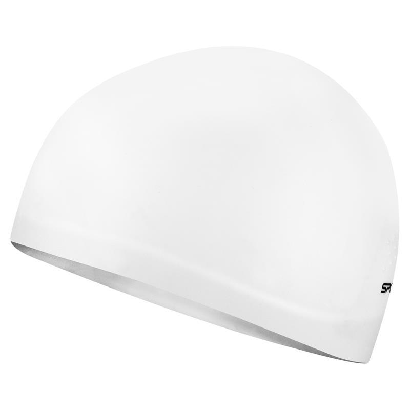 SPOKEY - SEAGULL Profesionální plavecká čepice bílá