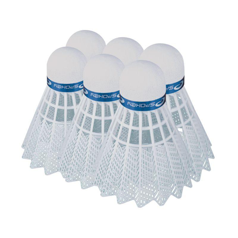 SPOKEY - SHOOT BLUE-Badmintonové míčky 6ks nylonové