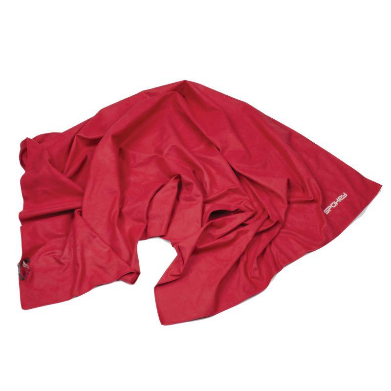 SPOKEY - SIROCCO XL Rychleschnoucí ručník 85x150 cm, červený s odnímatelnou sponou