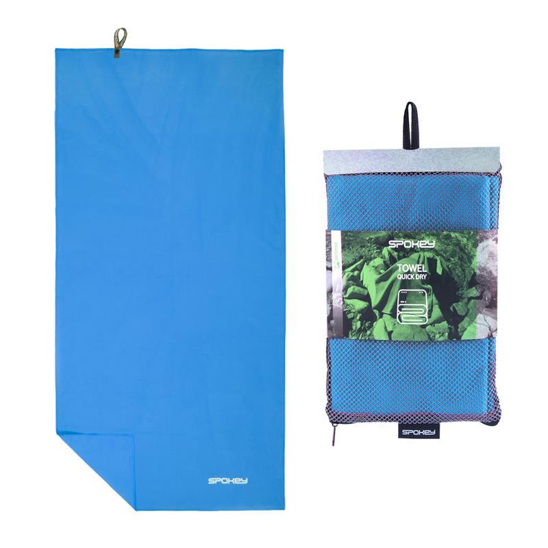SPOKEY - SIROCCO XL Rychleschnoucí ručník 85x150 cm, tyrkysový s odnímatelnou sponou