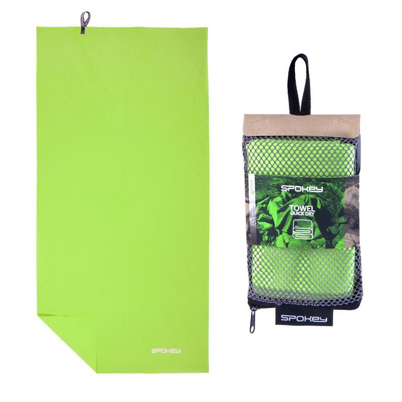 SPOKEY - SIROCCO XL Rychleschnoucí ručník 85x150 cm, zelený s odnímatelnou sponou