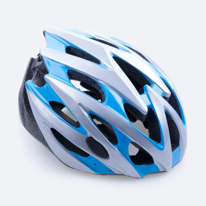SPOKEY - SKY - Cyklistická přilba pro dospělé modro-bílá 55-58 cm