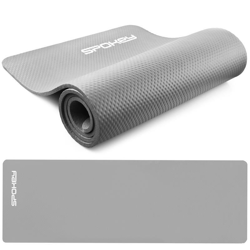 SPOKEY - SOFTMAT podložka na cvičení_šedá 1,5 cm