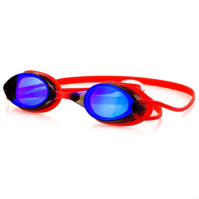 SPOKEY - SPARKI Plavecké brýle, červené, zrcadlová skla