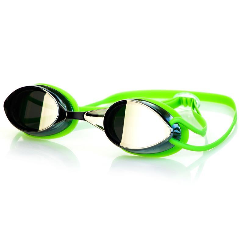SPOKEY - SPARKI Plavecké brýle, zelené, zrcadlová skla