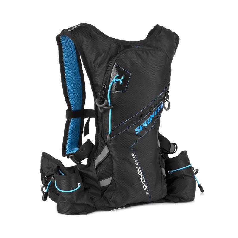 SPOKEY - SPRINTER - Cyklistický a běžecký batoh 5l modro- černý, vodotěsný