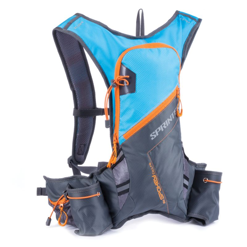 SPOKEY - SPRINTER - Cyklistický a běžecký batoh 5l šedo/modrý, voděodolný