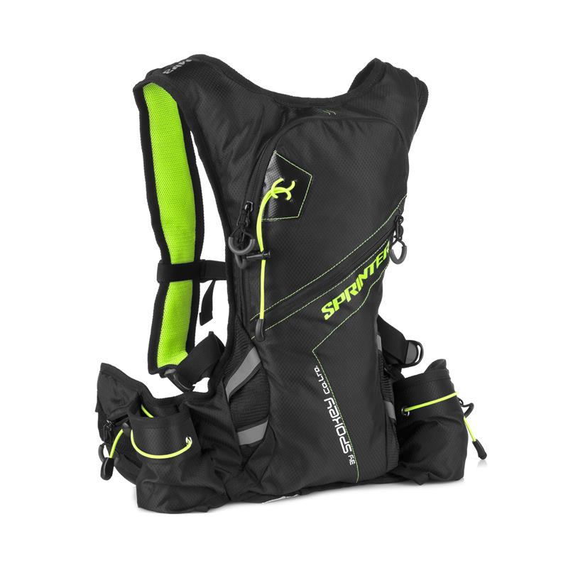 SPOKEY - SPRINTER - Cyklistický a běžecký batoh 5l zeleno černý, vodotěsný