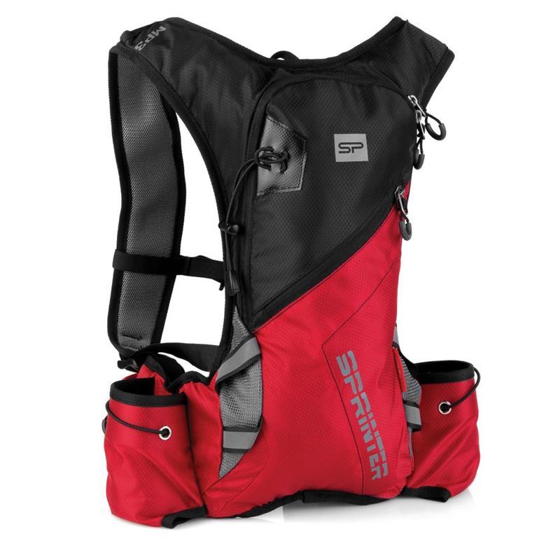SPOKEY - SPRINTER Cyklistický a běžecký batoh 5l černo/červený, voděodolný