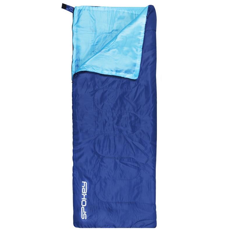 SPOKEY - SUMMERTIME Spací pytel deka modrý, pravé zapínání