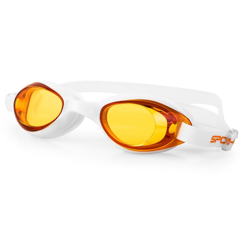 SPOKEY - TINI Plavecké brýle, bílé, oranžová skla