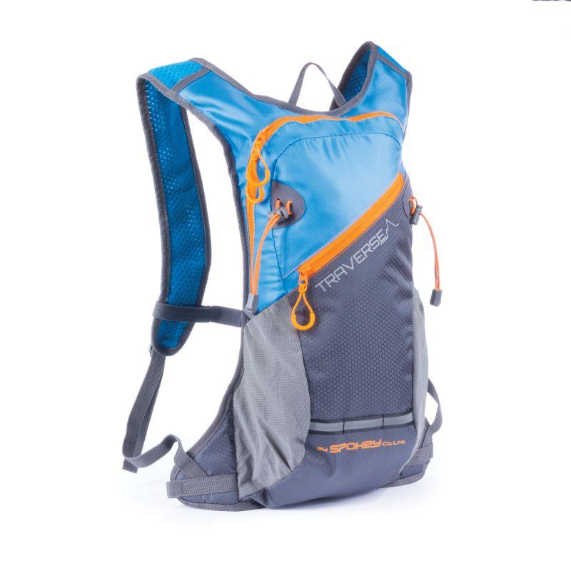 SPOKEY - TRAVERSE - Cyklistický a běžecký batoh 7l modro/šedý, voděodolný