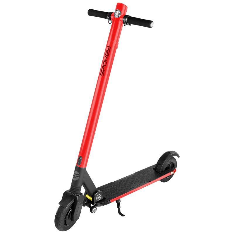 SPOKEY - Spokey VOLVER Elektrická koloběžka červená, kolečka 8', baterie 7,8 Ah, do 120 kg