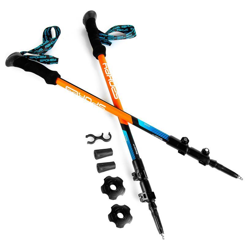 SPOKEY - ZION Trekingové hole 3-dílné, modro-oranžové