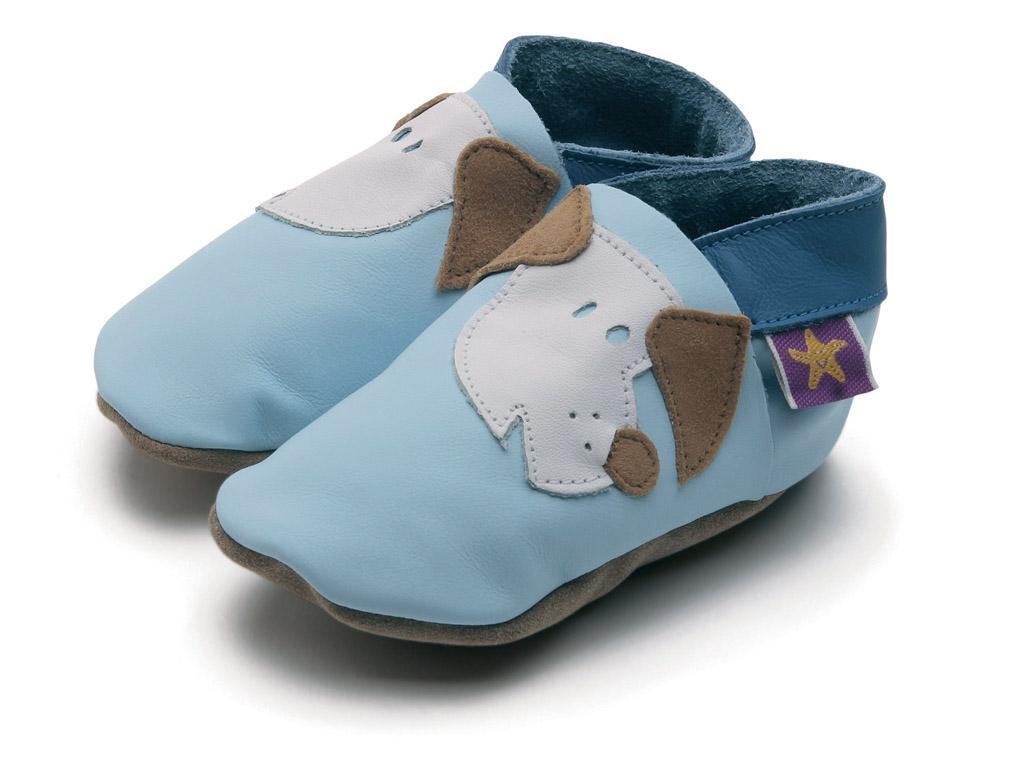 Starchild - Kožené botičky - Fido Baby Blue - velikost XL (18-24 měsíců) 038430fdea0