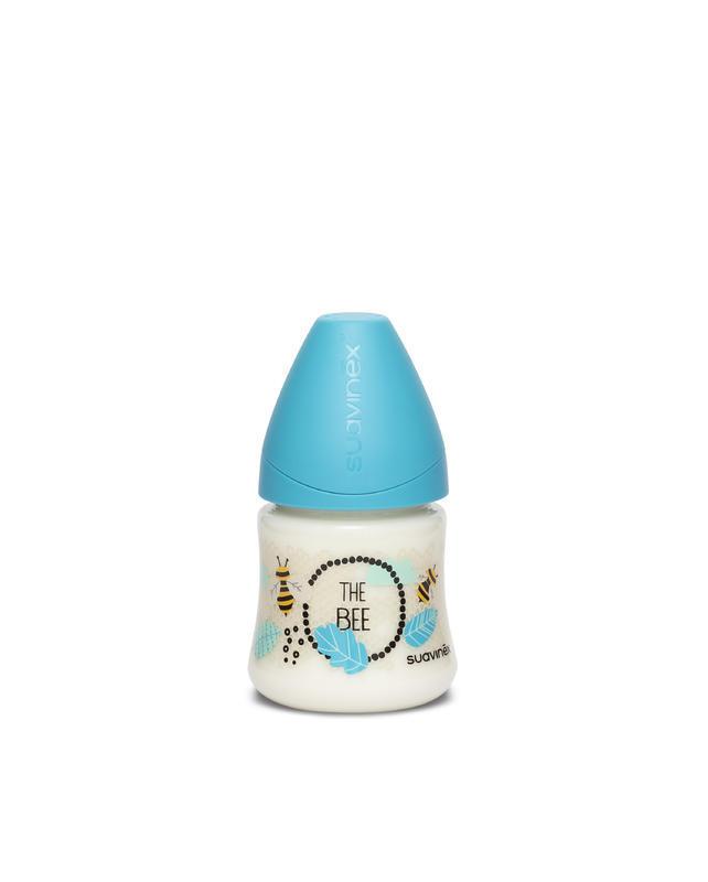 SUAVINEX - Láhev Kulatá Savička Latex 150 Ml - Modrá Včela