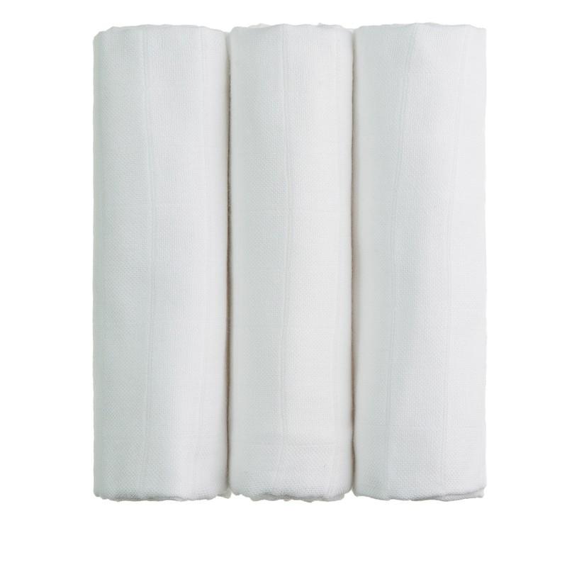T-TOMI - BIO Bambusové pleny, white / bílá