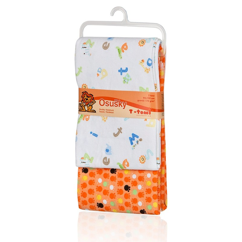 T-TOMI - Látkové osušky, orange / oranžová