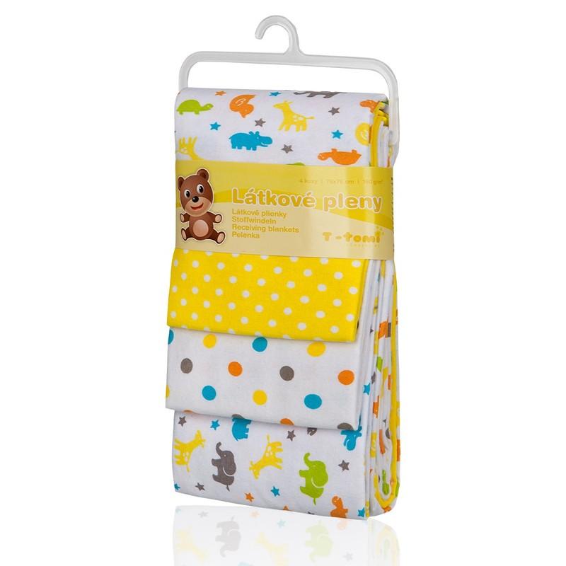 T-TOMI - Látkové pleny, yellow giraffe / žluté žirafy