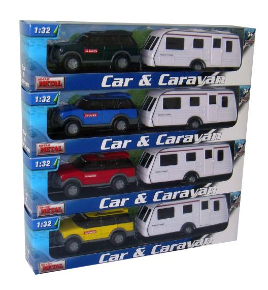 Teama Team - 1:32 Auto s karavanem 4Ass
